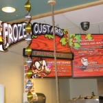 Georgie Porgie's serves custard, hamburgers and a great variety of other foods.