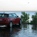 This Minnesota MINI gets close up and personal with Lake Michigan.