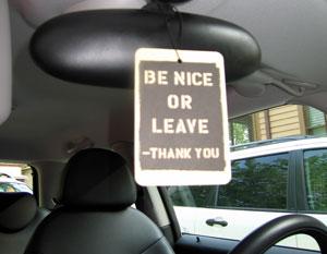 Bessie spreads her message to all passengers.