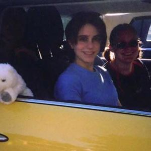 Starting out on day two from Kansas City, Missouri. Caren in the driver's seat, Jenny as navigator, and Emily in the back (not the polar bear! you just can't see her)