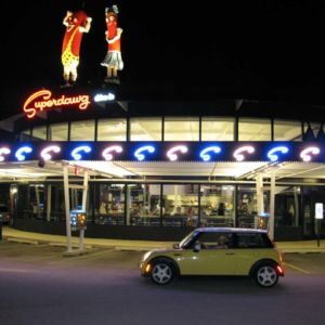 Bessie at Superdawg in Wheeling, Illinois.