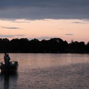 Boat on Fowler Lake.