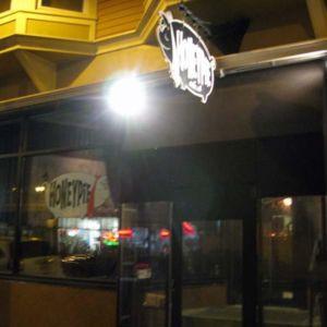 Outside Honey Pie Cafe.