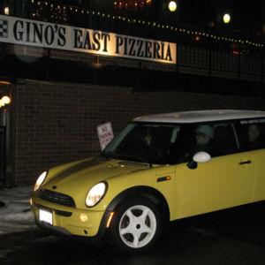 Bessie at Gino's East of Lake Geneva, Wisconsin.