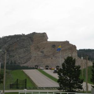 Crazy Horse. We were too cheap to go in and see another unfinished mountain sculpture.