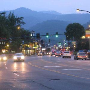 Gatlinburg at night.